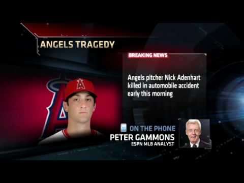Nick Adenhart of Los Angeles Angels killed in car crash