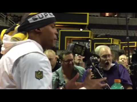 Cam Newton Interview At Super Bowl Media Day #SB50