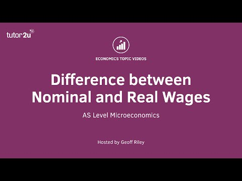 Difference between Money and Real Wages
