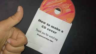 How to make a beauty and hard CD cover from A4 paper and printing on it  كيفية عمل غطاء لل CD