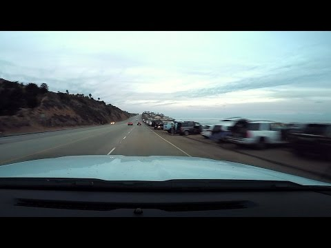 GoPro HERO4 Driving PCH, Pt. Mugu to Trancas 10-14-14