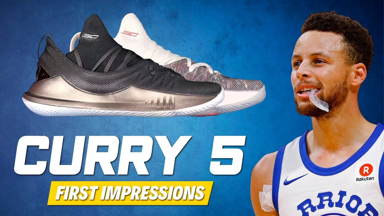 5ffb5eda58c0 UNDER ARMOUR CURRY 5 FIRST IMPRESSIONS - YouTube