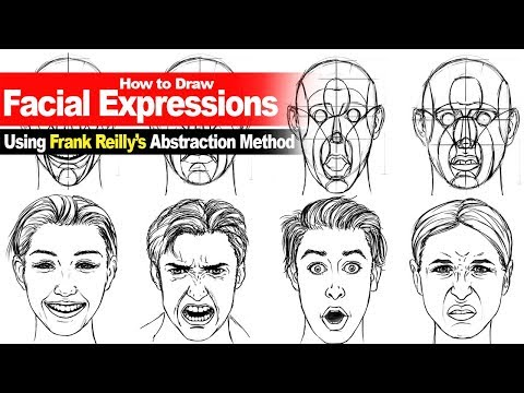 "Using Frank Reilly's ""Abstraction"" Method to Draw Facial Expressions ""Narrated"""
