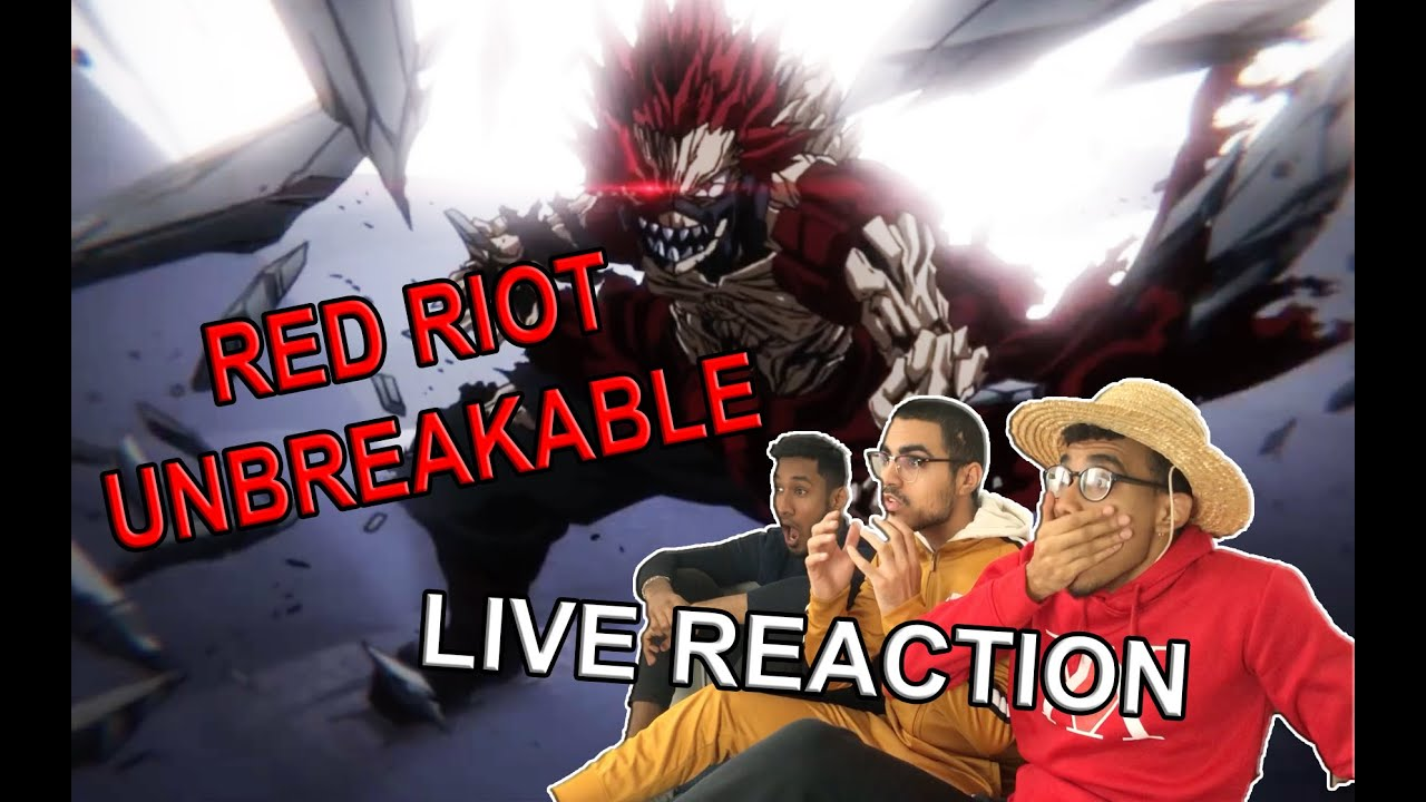 Download RED RIOT  UNBREAKABLE - MY HERO ACADEMIA S04 EP05 LIVE REACTION FR