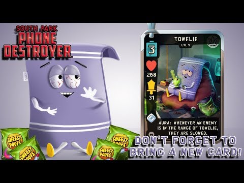 South Park Phone Destroyer NEW CARD - Don't Forget Your Towel!!!
