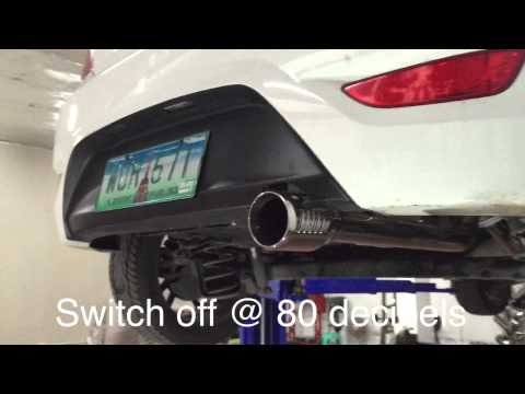 Hyundai Accent CRDI exhaust system with volume control DRIFT Xaust