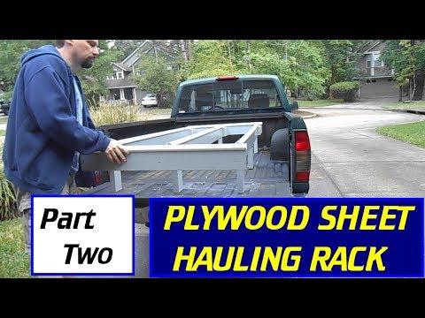 Make a Plywood / Sheet-goods Hauling Rack - Part #2