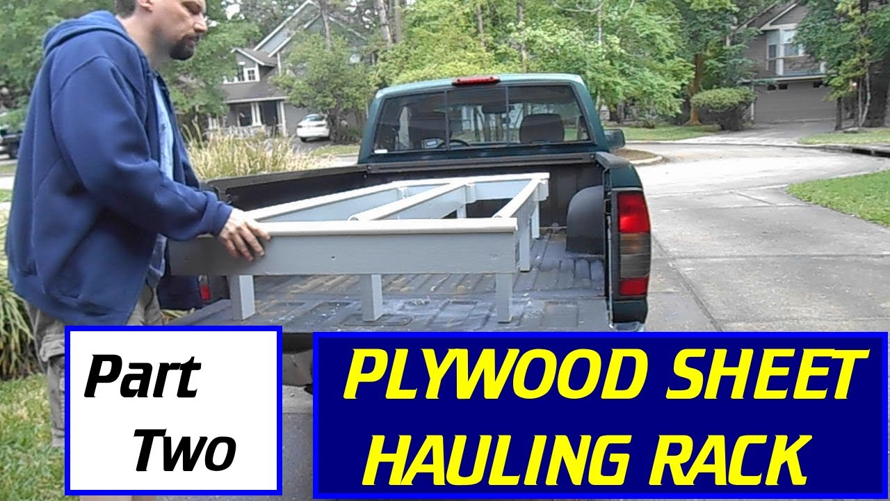 Make A Plywood Sheet Goods Hauling Rack Part 2 Youtube