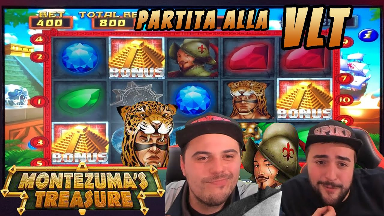 VLT ???? - Partita alla Slot MONTEZUMA'S TREASURE