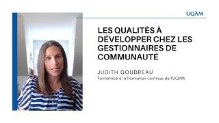 Formation continue: «Les qualités à développer chez les gestionnaires de communauté»