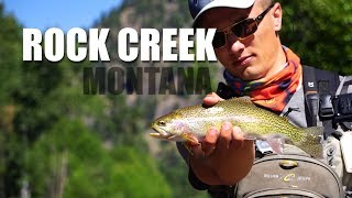 Fly Fishing Rock Creek, Montana - beautiful scenery and lots of fish