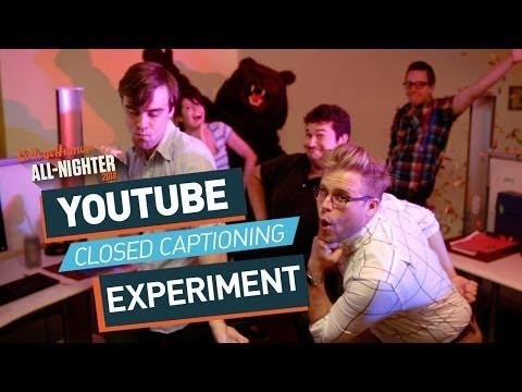 YouTube Closed Captioning Experiment (All-Nighter 2014)