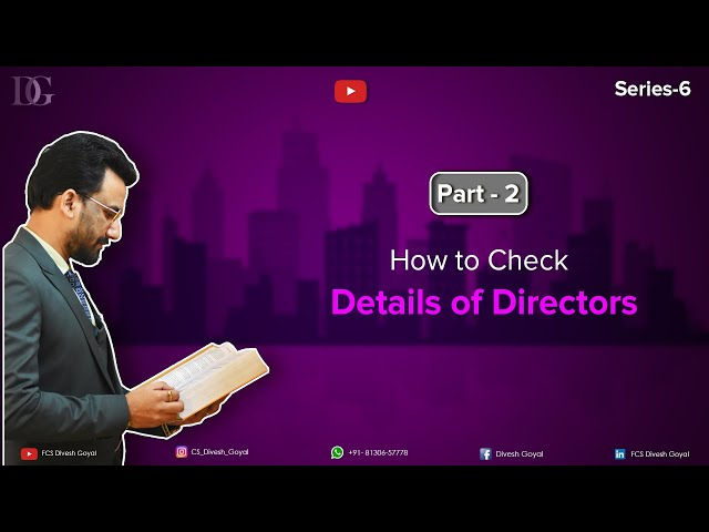 How to check details of Directors of Company.