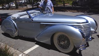 1937 Delahaye 145 Franay Cabriolet: Grand Prix Racer Turned Roadster - Pebble Beach Week