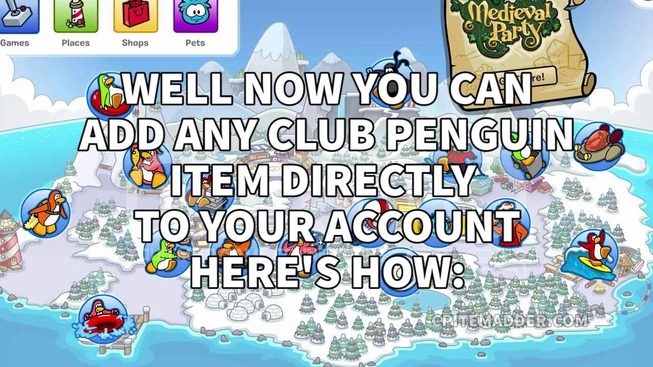 club penguin item adder working