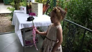 Лиза читает стих на золотой свадьбе - июль 2014