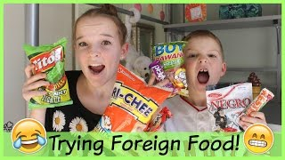 Trying Foreign Food with my Little Brother! Episode 3