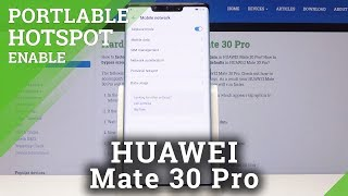 How to Set HAUWEI Mate 30 PRO as Portable Hotspot / Network Sharing