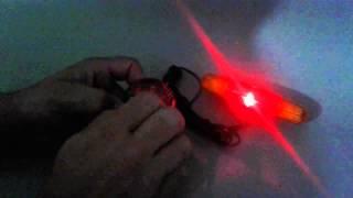 Lanterna Buzina 8 Sons P/guidão + Seta Luz D/ Freio P/bike