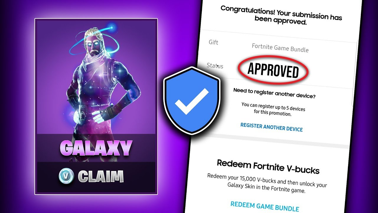 Fortnite galaxy skin how to claim and unlock it properly preorder and more youtube - Fortnite galaxy skin free ...