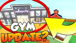 GYM UPDATE?!?! in Roblox MEEP CITY