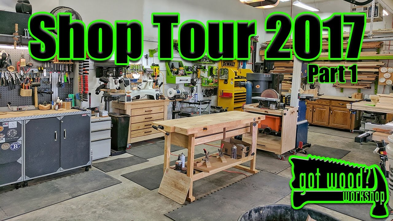 shop tour 2017 part 1 3 car garage workshop - Garage Woodshop