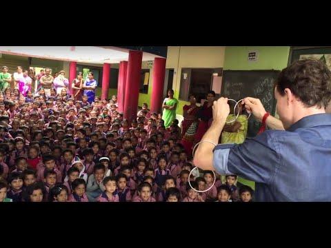 Performing Magic for School Children in India - Luke Hillis