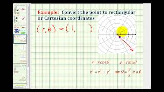 Example:  Convert a Point in Polar Coordinates to Rectangular Coordinates