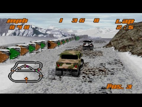 Test Drive Off-Road Gameplay Hummer League (PlayStation,PSX,PS1)