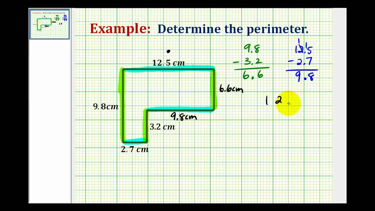Example using decimals to determine the perimeter of an l shaped example using decimals to determine the perimeter of an l shaped polygon ccuart Gallery