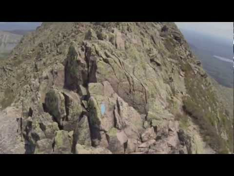 "Hiking the ""Knife edge"", Mount Katahdin, Maine"