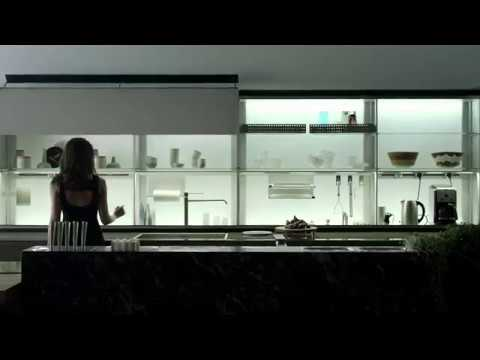 Valcucine New Logica System.The back panel with magical doors - YouTube