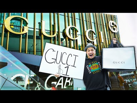I Sold Gucci For $1 Outside Gucci