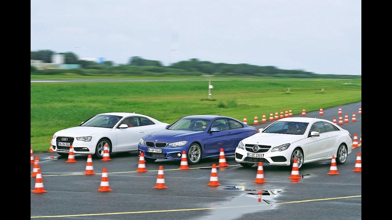 Audi A5 vs BMW 428i vs Mercedes E 250 Coup  YouTube