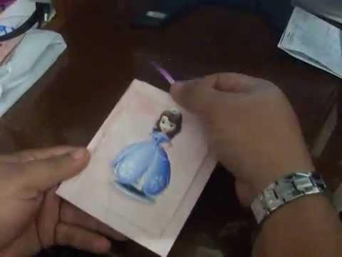 Tarjeta De Invitacion Princesa Sofia Deslizante