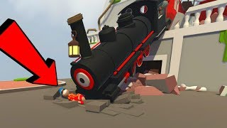 ACCIDENTE DE TREN CATASTRÓFICO 😱🚂 ¡SOMOS DE PLASTILINA! | HUMAN FALL FLAT