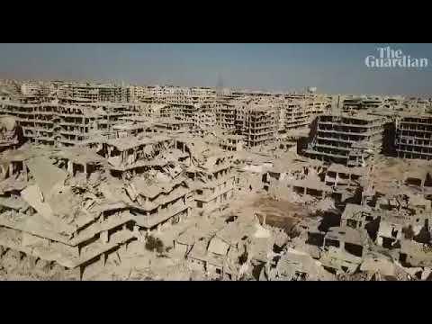 Сирия сегодня! Видеоряд от The Guardian с видами разрушенных сирийских городов, снятых с БЛА