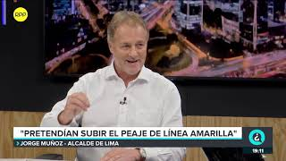 """Jorge Muñoz sobre peajes: """"El MEF nunca revisó estos contratos""""."""