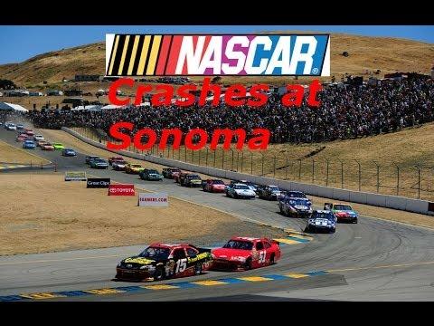 Nascar Crashes at Sonoma