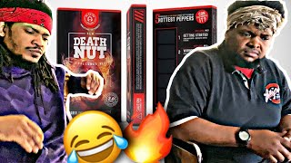 I MADE MY BROTHERS DO THE DEATH NUT CHALLENGE (HALARIOUS)