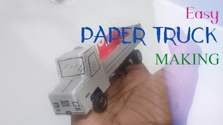 #DIY How to make Easy paper Truck - using Toothpaste box