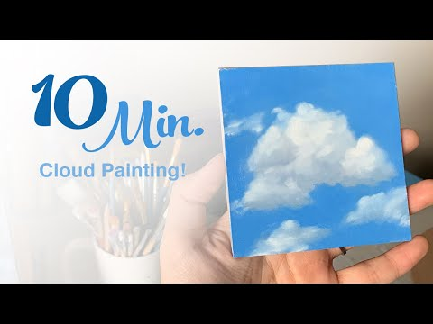Easy Realistic Cloud Painting in 10 MINUTES! - Oil Painting Tutorial