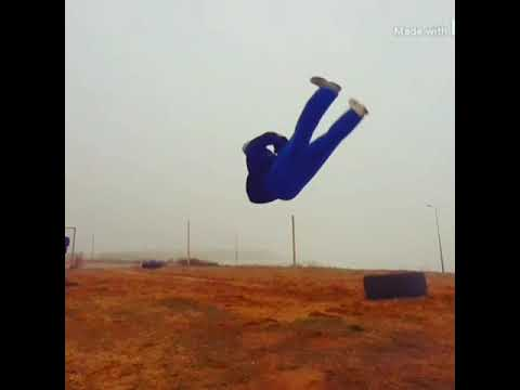 Training acrobatics, stunt.