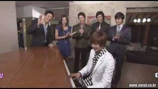 i miss you quot by Kim Bum Soo, Kim Hyun Joong played on piano