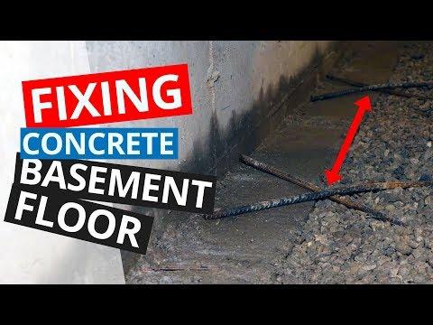 fixing-concrete-basement-floor-|-basement-waterproofing-repair