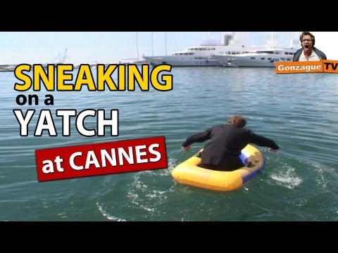 Sneaking on a yacht at Cannes Film Festival
