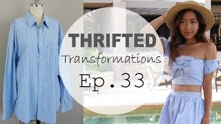 thrifted transformations   ep 33 button down shirt reconstruction