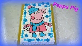 Торт СВИНКА ПЕППА Кремовые торты для детей  Cake piggy Peppa
