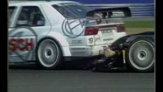 Alexander Wurz desperately trying to overtake Jason Watt at Silverstone ITC 1996 Part 2