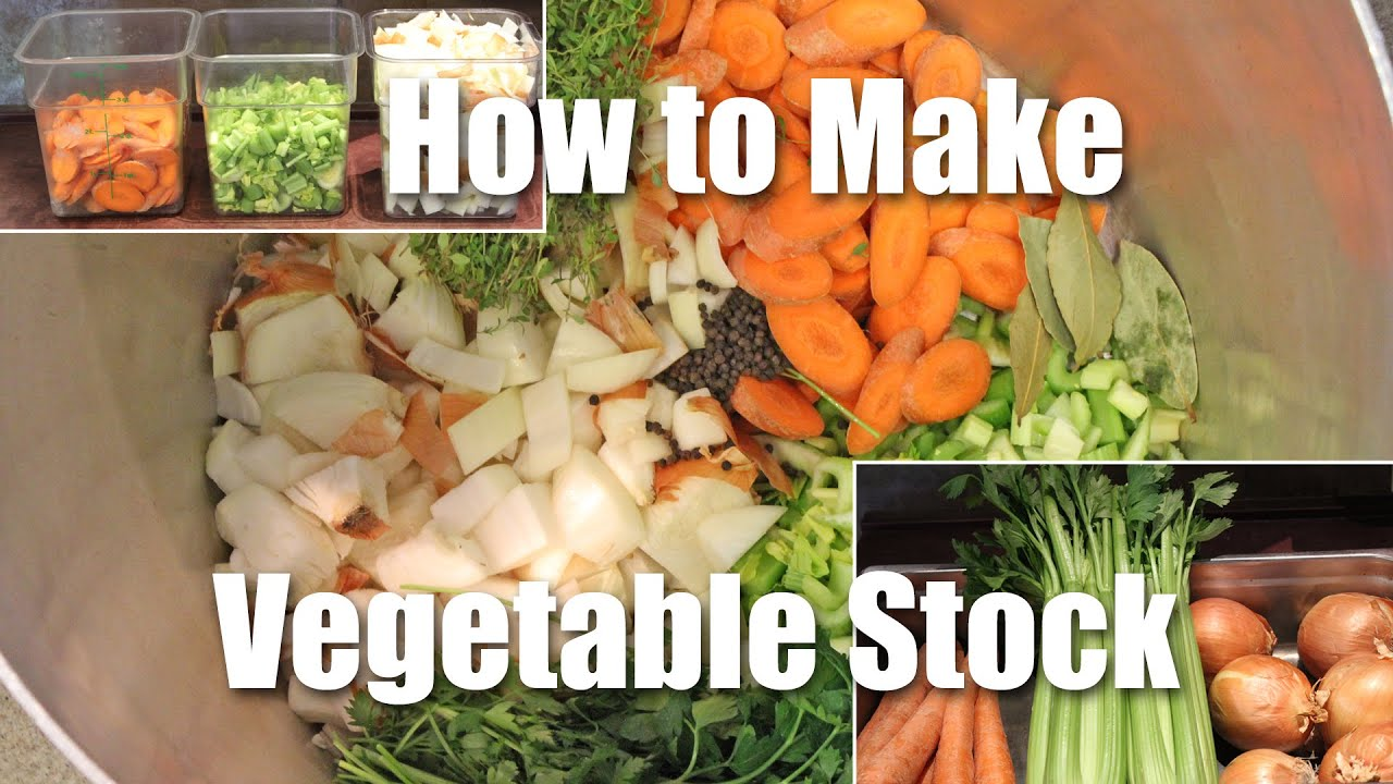 How To Make Vegetable Stock - YouTube